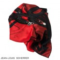Set Accroche-clefs Cassiope Black + Foulard soie Reflection Red + Bracelet Cassiope Black