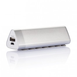 Chargeur triangulaire 2.200mAh, argent