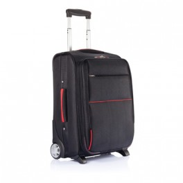 Trolley avion extensible sans PVC, noir