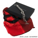 Set Foulard soie Reflection Red + Bracelet Orion Silver